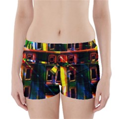 Architecture City Homes Window Boyleg Bikini Wrap Bottoms