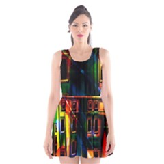 Architecture City Homes Window Scoop Neck Skater Dress