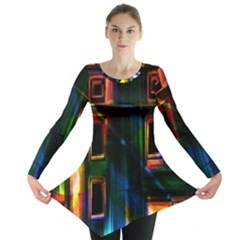 Architecture City Homes Window Long Sleeve Tunic