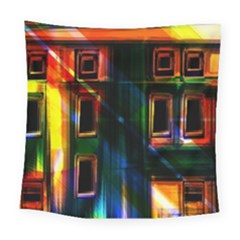 Architecture City Homes Window Square Tapestry (large)
