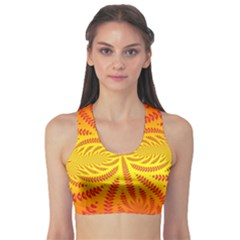 Background Brush Particles Wave Sports Bra