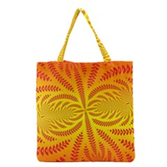 Background Brush Particles Wave Grocery Tote Bag