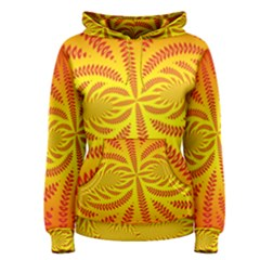 Background Brush Particles Wave Women s Pullover Hoodie