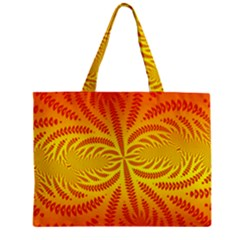 Background Brush Particles Wave Zipper Mini Tote Bag