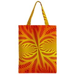 Background Brush Particles Wave Zipper Classic Tote Bag