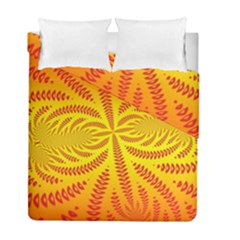 Background Brush Particles Wave Duvet Cover Double Side (full/ Double Size)