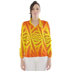 Background Brush Particles Wave Wind Breaker (Women)