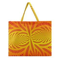 Background Brush Particles Wave Zipper Large Tote Bag