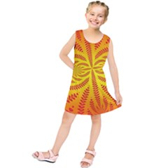 Background Brush Particles Wave Kids  Tunic Dress