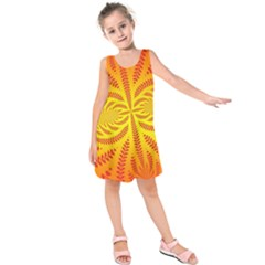 Background Brush Particles Wave Kids  Sleeveless Dress