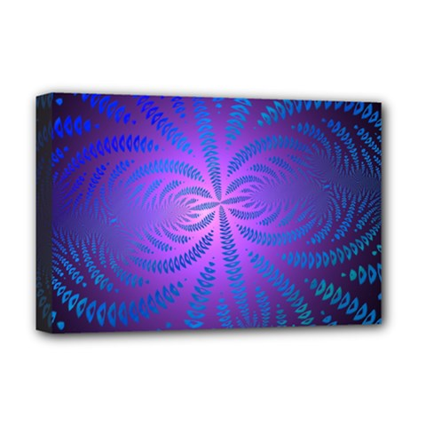 Background Brush Particles Wave Deluxe Canvas 18  X 12