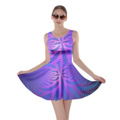 Background Brush Particles Wave Skater Dress