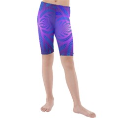Background Brush Particles Wave Kids  Mid Length Swim Shorts