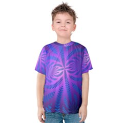 Background Brush Particles Wave Kids  Cotton Tee