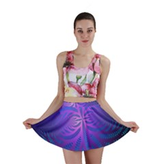 Background Brush Particles Wave Mini Skirt