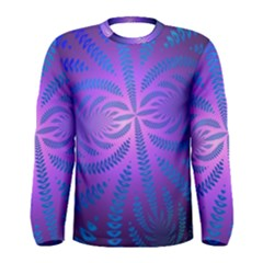 Background Brush Particles Wave Men s Long Sleeve Tee
