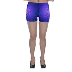 Background Brush Particles Wave Skinny Shorts
