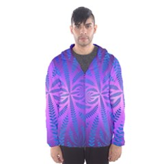 Background Brush Particles Wave Hooded Wind Breaker (men)