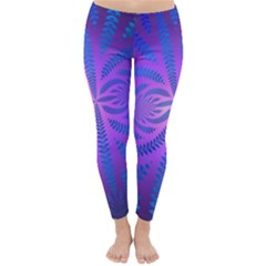 Background Brush Particles Wave Classic Winter Leggings