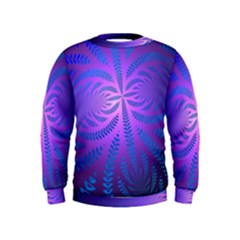 Background Brush Particles Wave Kids  Sweatshirt