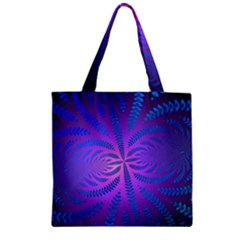 Background Brush Particles Wave Zipper Grocery Tote Bag