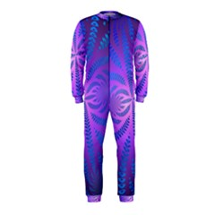 Background Brush Particles Wave Onepiece Jumpsuit (kids)