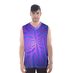 Background Brush Particles Wave Men s Basketball Tank Top