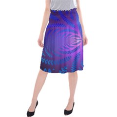 Background Brush Particles Wave Midi Beach Skirt