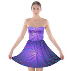 Background Brush Particles Wave Strapless Bra Top Dress