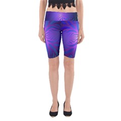 Background Brush Particles Wave Yoga Cropped Leggings