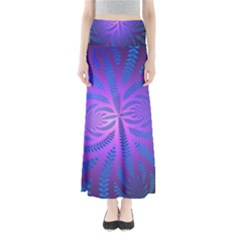 Background Brush Particles Wave Maxi Skirts