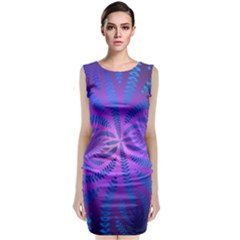 Background Brush Particles Wave Classic Sleeveless Midi Dress
