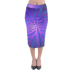 Background Brush Particles Wave Midi Pencil Skirt