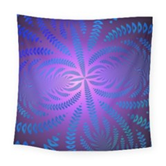 Background Brush Particles Wave Square Tapestry (large)