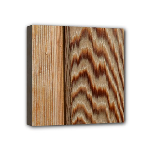 Wood Grain Texture Brown Mini Canvas 4  X 4