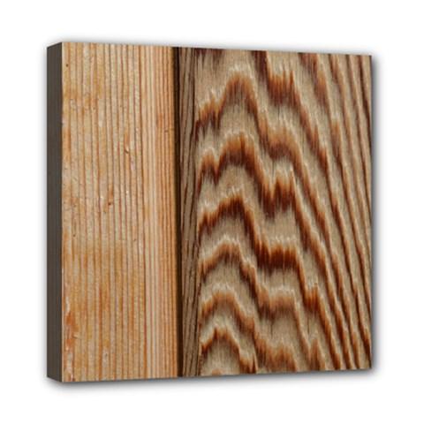Wood Grain Texture Brown Mini Canvas 8  X 8