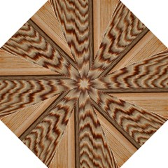 Wood Grain Texture Brown Straight Umbrellas