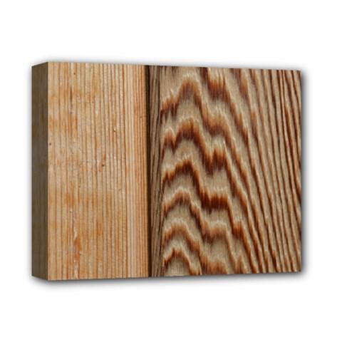 Wood Grain Texture Brown Deluxe Canvas 14  X 11