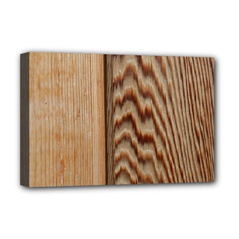 Wood Grain Texture Brown Deluxe Canvas 18  X 12