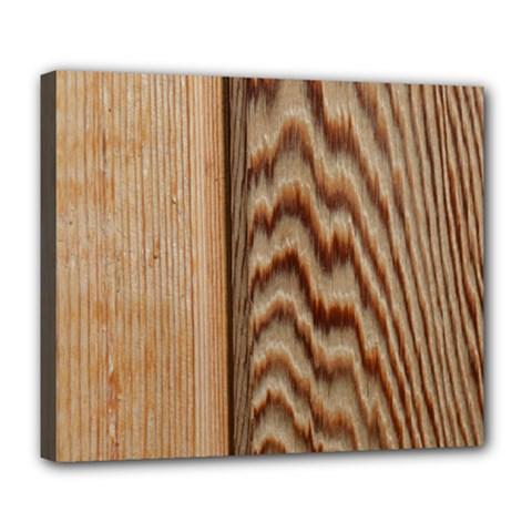 Wood Grain Texture Brown Deluxe Canvas 24  x 20