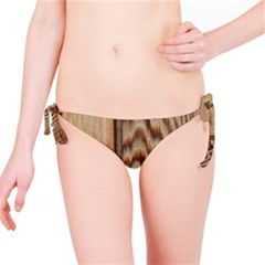 Wood Grain Texture Brown Bikini Bottom