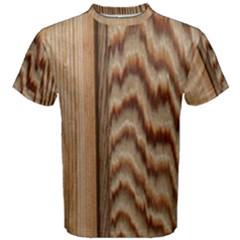 Wood Grain Texture Brown Men s Cotton Tee