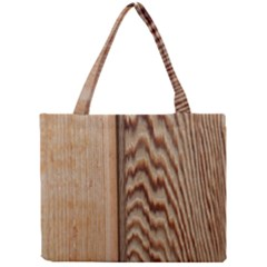 Wood Grain Texture Brown Mini Tote Bag