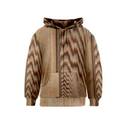 Wood Grain Texture Brown Kids  Zipper Hoodie