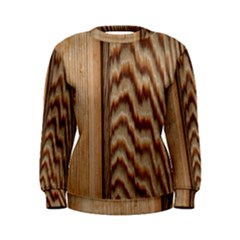 Wood Grain Texture Brown Women s Sweatshirt