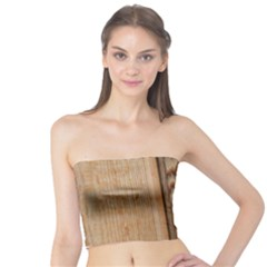 Wood Grain Texture Brown Tube Top