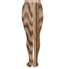 Wood Grain Texture Brown Women s Tights