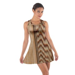 Wood Grain Texture Brown Cotton Racerback Dress