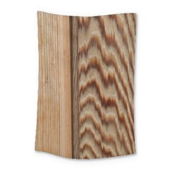 Wood Grain Texture Brown Small Tapestry