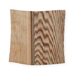 Wood Grain Texture Brown Square Tapestry (small)